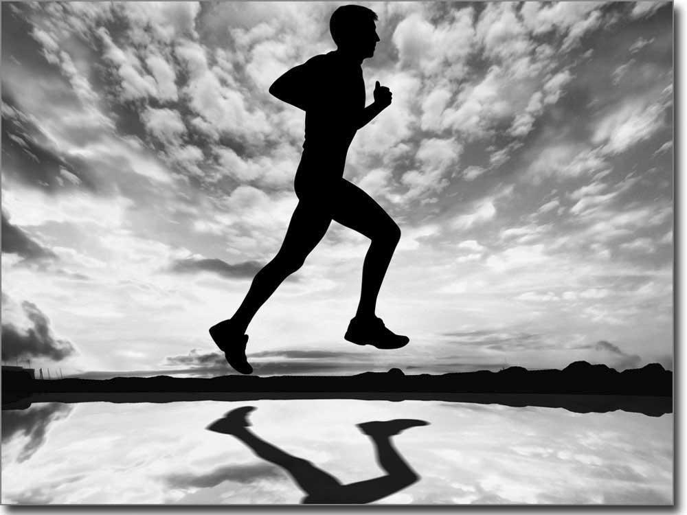 Sport bild laufen als selbstklebendes fensterbild for Bedruckte klebefolie