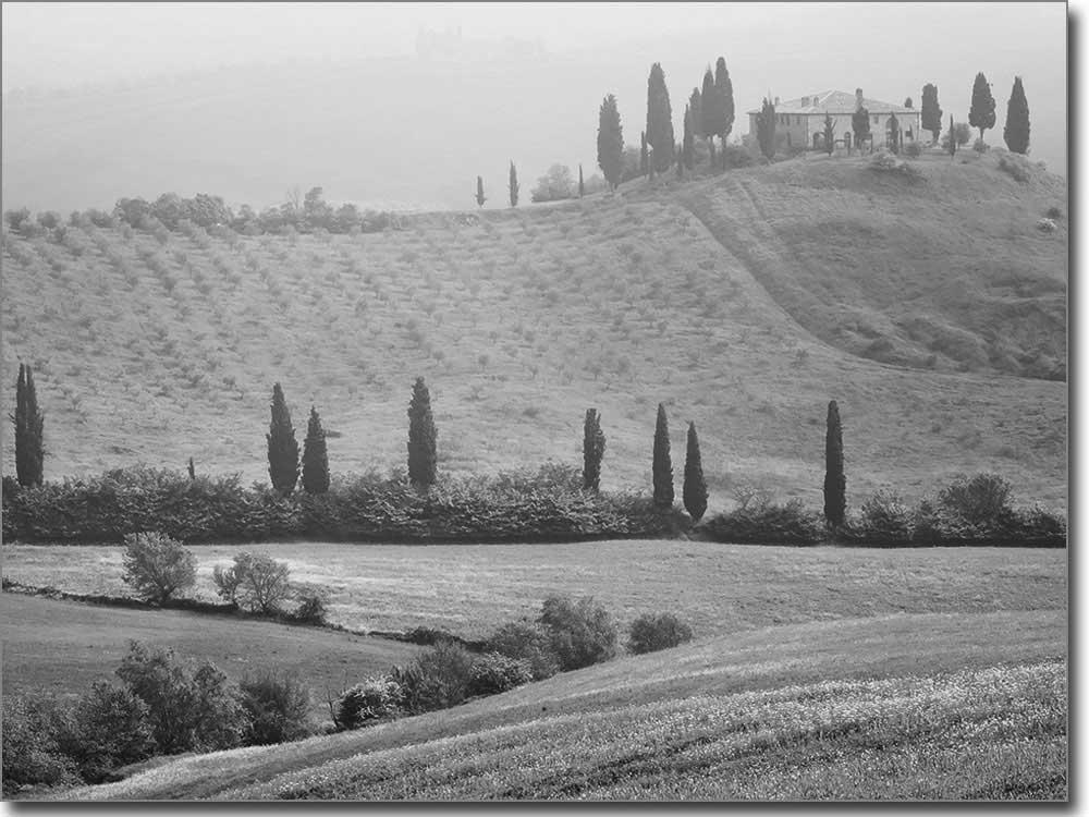 Dekofolie landschaftsbild toskana passgenaue folie for Bedruckte klebefolie