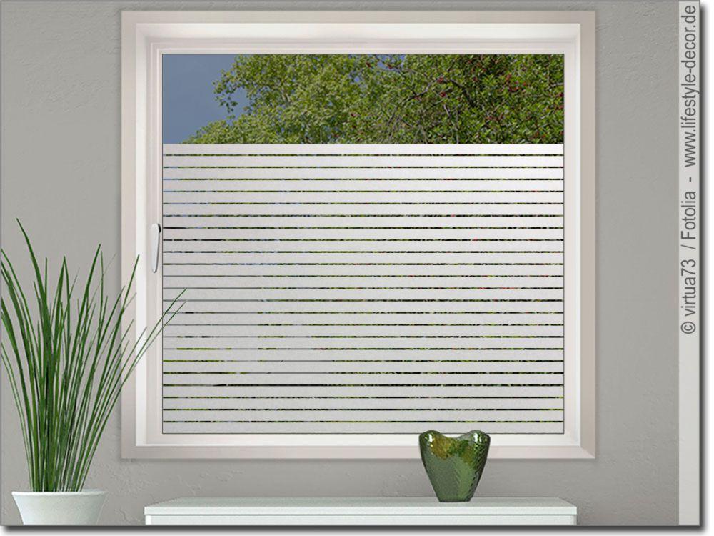 Milchglasfolie Mit 3 Cm Streifen Fur Fenster