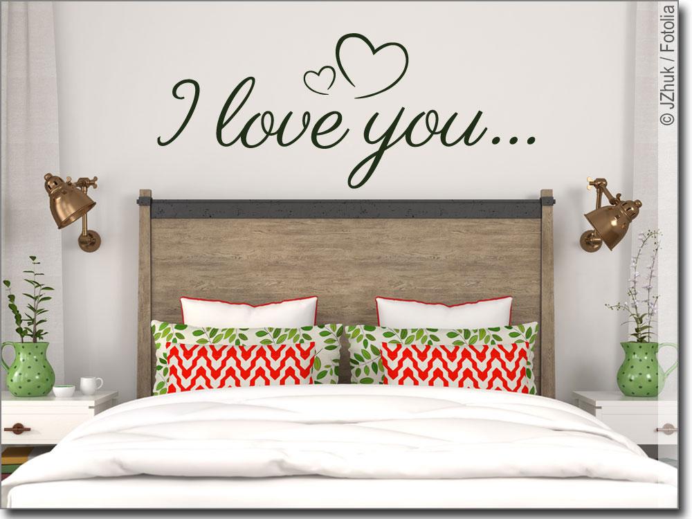 Wandspruch I love you   Schlafzimmer Wandtattoo Liebe