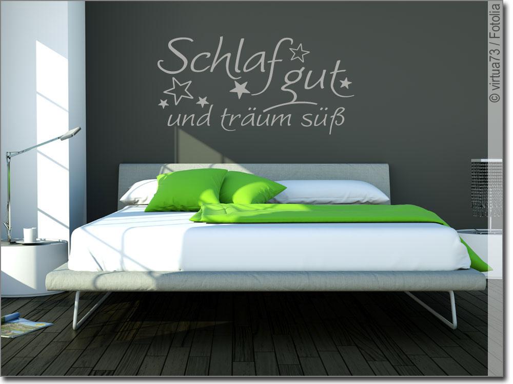 wandtattoo schlaf gut und tr um s schlafzimmertattoo. Black Bedroom Furniture Sets. Home Design Ideas