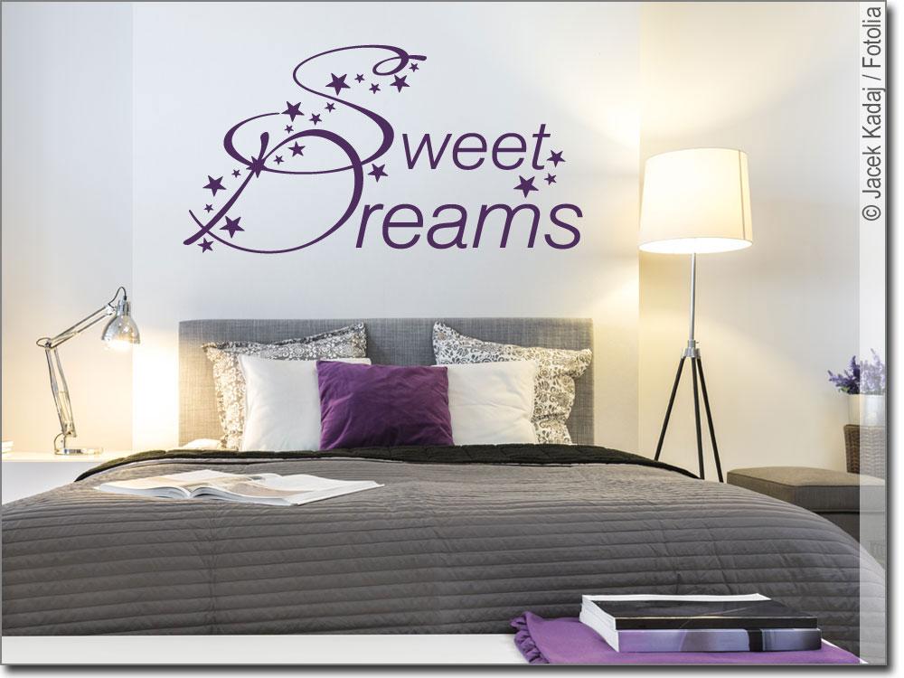 wandtattoo schlafzimmer sweet dreams wandsticker. Black Bedroom Furniture Sets. Home Design Ideas