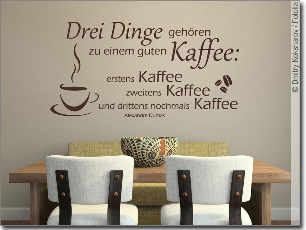 Wandzitat Kaffee Rezept | Wandtattoo Spruch für Küche
