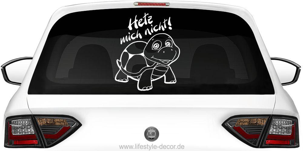 WD Autoaufkleber HETZ MICH NICHT Schildkröte Aufkleber Auto Sticker Heckscheibe
