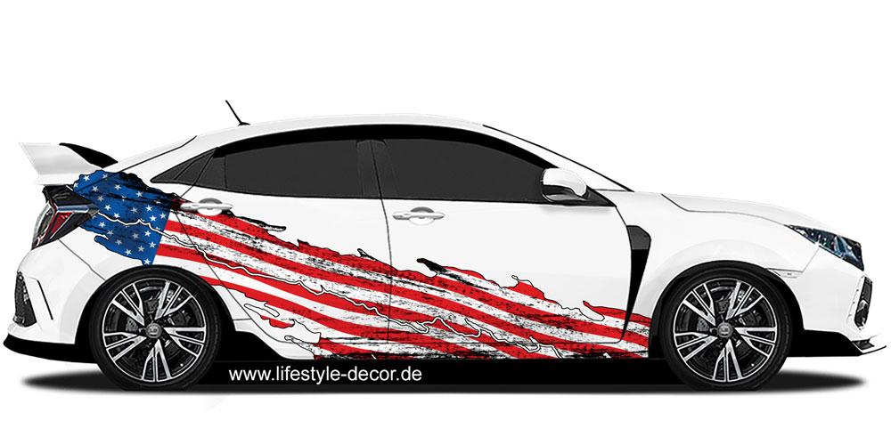 Autoaufkleber Usa Flagge