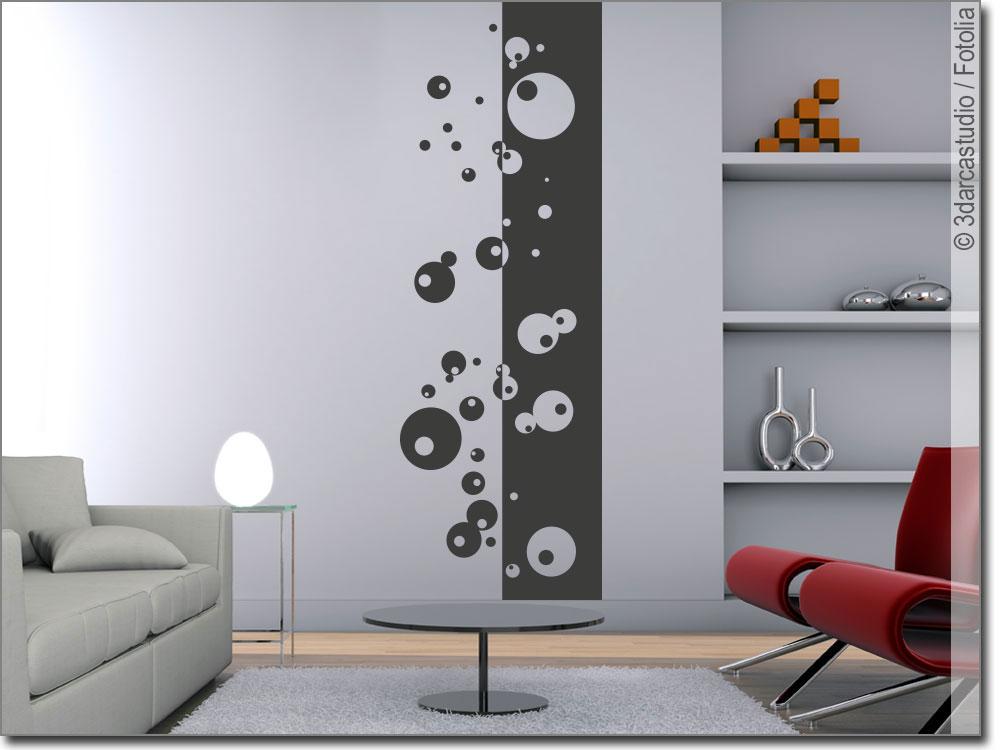 Wandbanner moderne kreise wandtattoo tapete passgenau - Wandgestaltung kreise ...