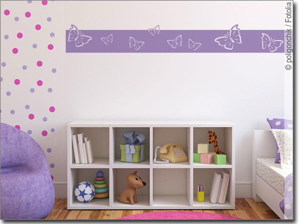 Bordüre mit Schmetterlingen | Wandtattoo für Kinder