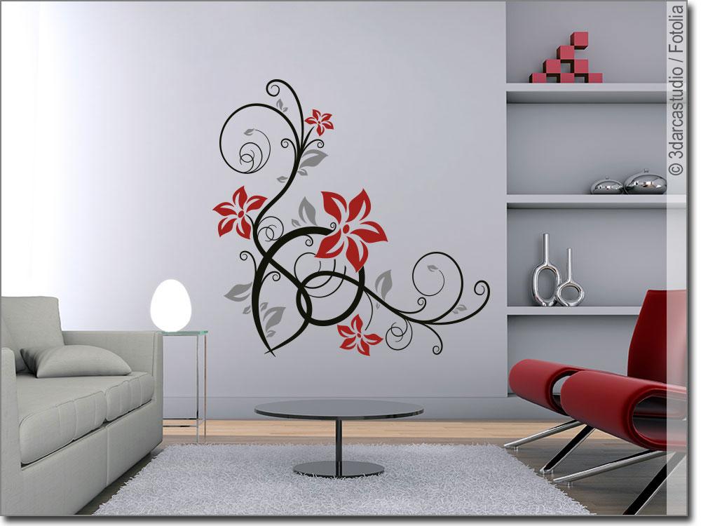 bunter wandsticker stilvolles ornament wandtattoo. Black Bedroom Furniture Sets. Home Design Ideas