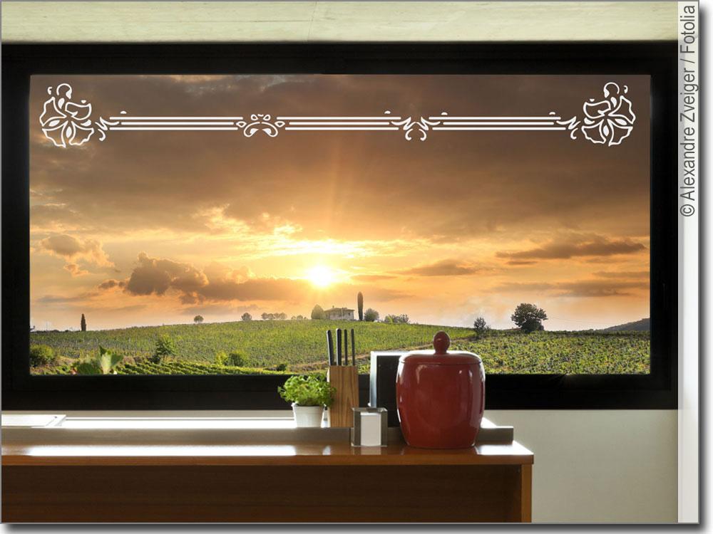 folie in sandstrahloptik mit bord re als fensterdeko. Black Bedroom Furniture Sets. Home Design Ideas
