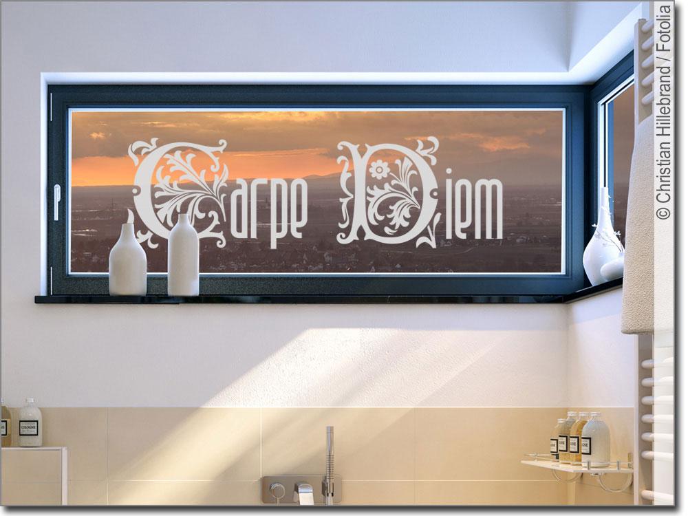 Glastattoo Mit Carpe Diem Fur Dekoratives Glas