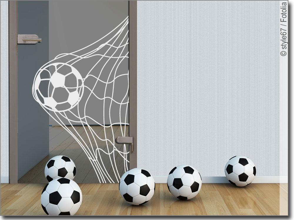 Schön Glasaufkleber Fußballmotiv