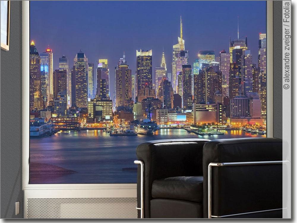 fotofolie mit der imposanten skyline von ny nach ma. Black Bedroom Furniture Sets. Home Design Ideas