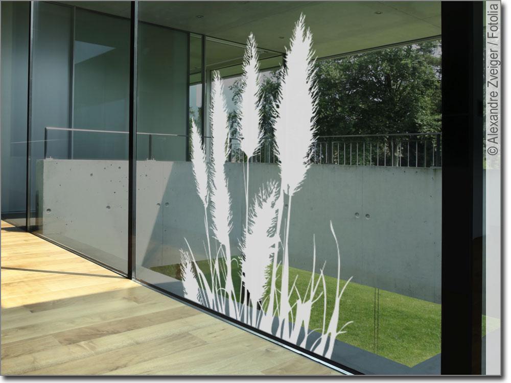 glasdekor pampasgras edler aufkleber f rs fenster. Black Bedroom Furniture Sets. Home Design Ideas