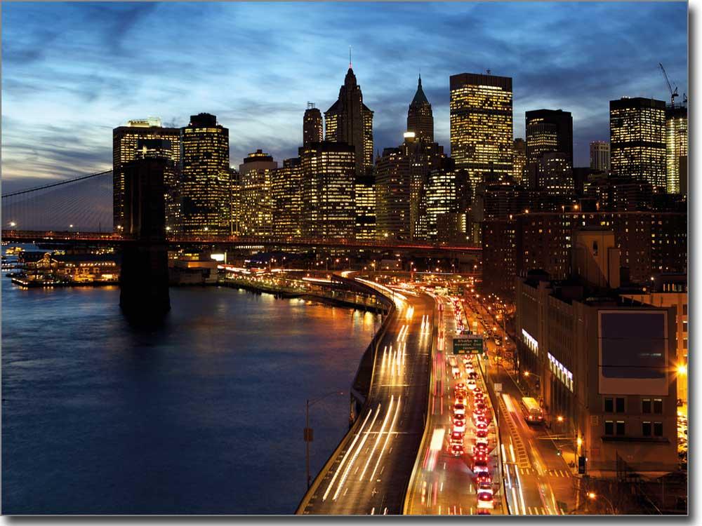 Rush hour new york hochwertige dekorfolie f r fenster for Bedruckte klebefolie