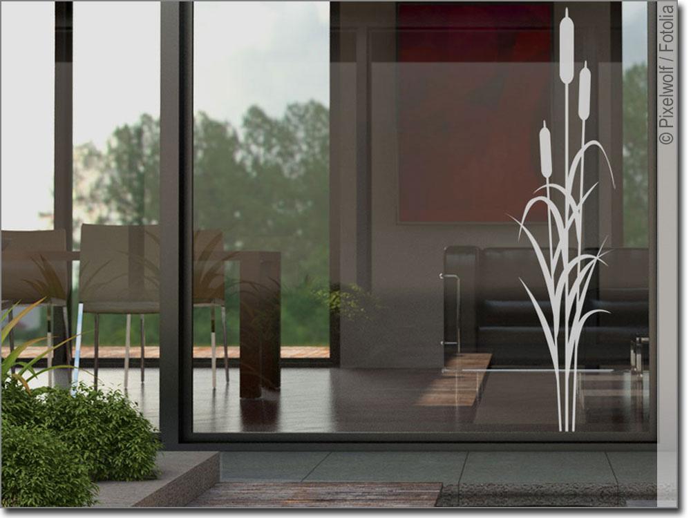 glasdekor schilfgras pflanzen aufkleber f rs fenster. Black Bedroom Furniture Sets. Home Design Ideas