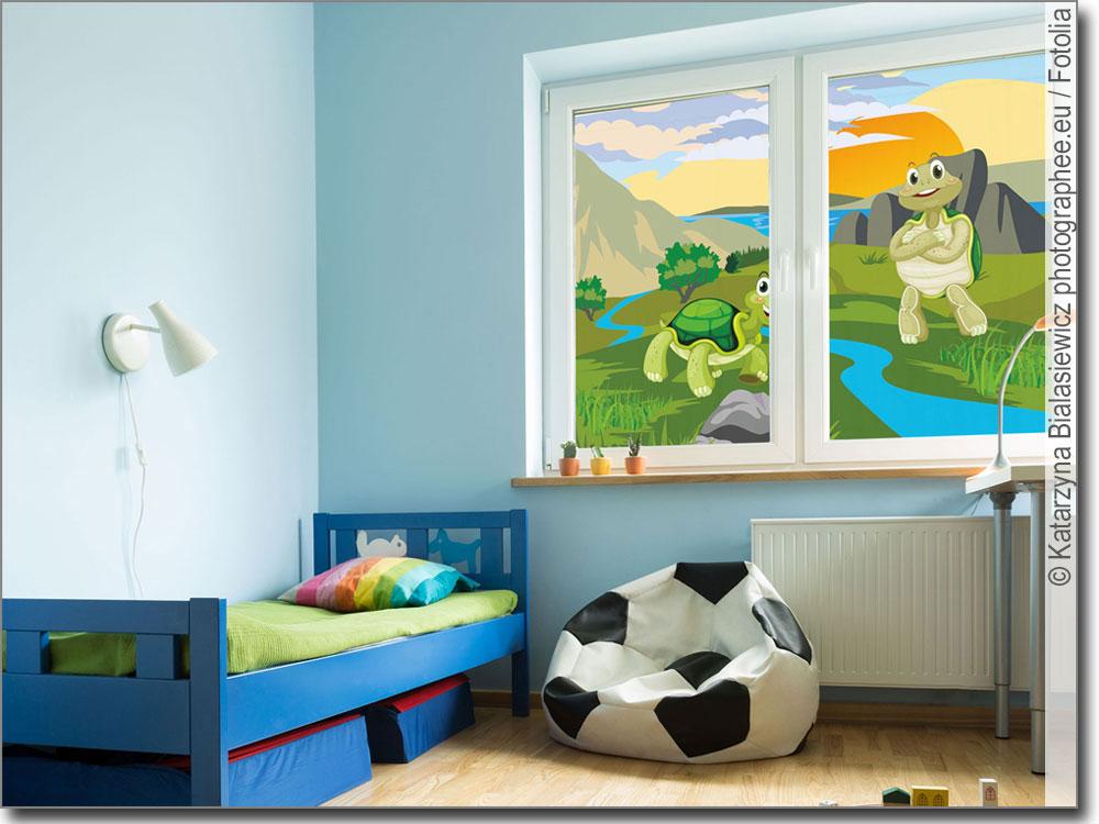 passgenaue klebefolie mit zwei lustigen schildkr ten. Black Bedroom Furniture Sets. Home Design Ideas