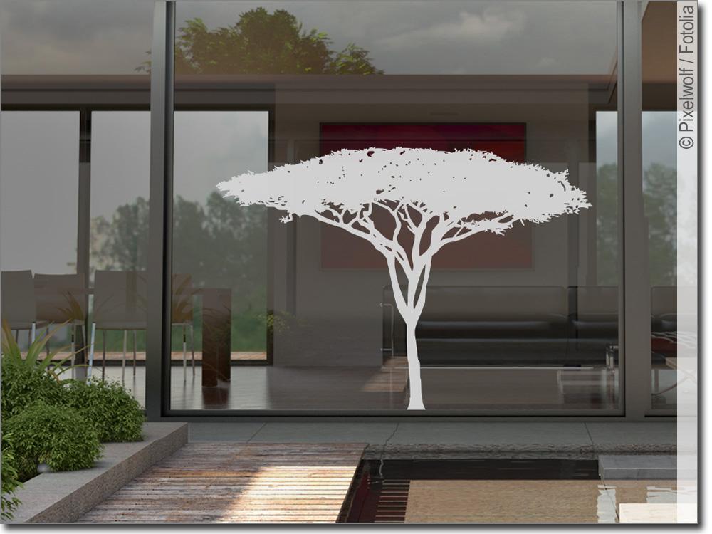 Milchglasfolie savannenbaum fensteraufkleber - Fensterfolie weihnachten ...