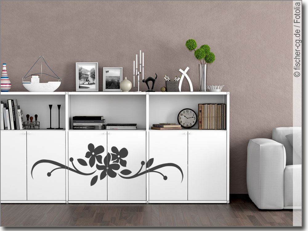 m beltattoo florales ornament m bel klebefolie. Black Bedroom Furniture Sets. Home Design Ideas