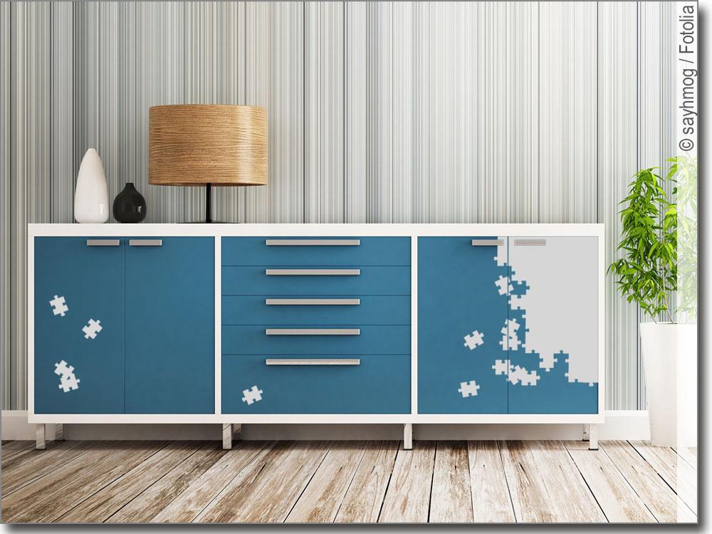 Möbel Aufkleber Puzzle | Möbelfolie selbstklebend