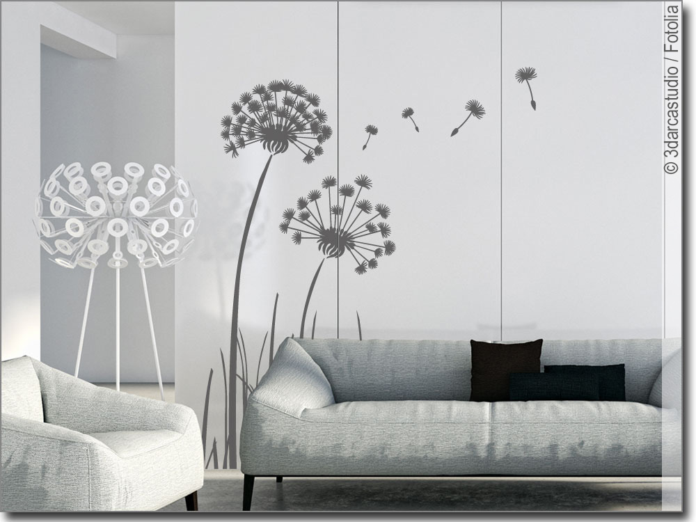 m beltattoo pusteblume klebefolie f r ihre schr nke. Black Bedroom Furniture Sets. Home Design Ideas