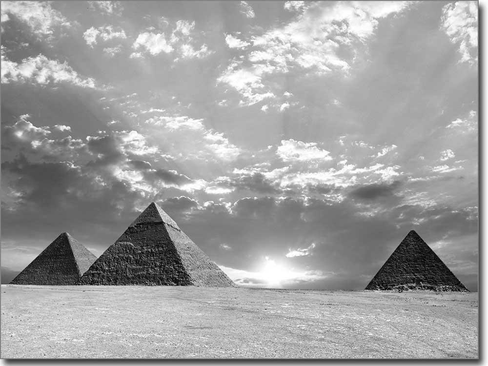 Pyramiden von gizeh als glasaufkleber auf wunschma for Bedruckte klebefolie