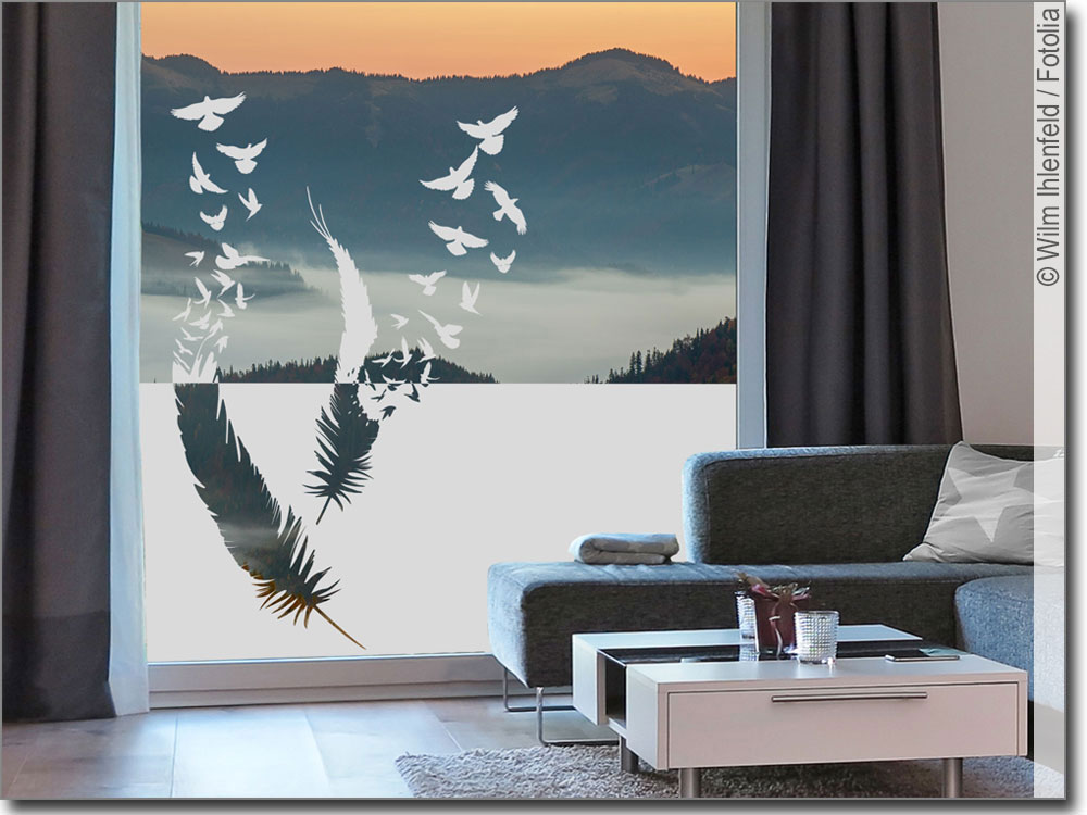sichtschutz federn mit v gel. Black Bedroom Furniture Sets. Home Design Ideas