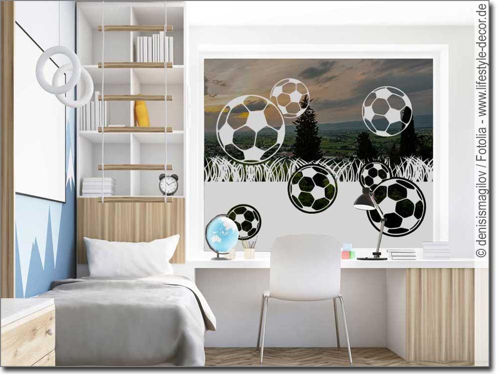 Sichtschutz Fußball | Fußball Aufkleber fürs Fenster