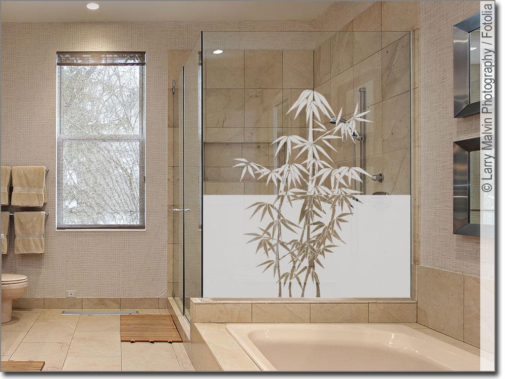 sichtschutz mit asia bambus schicke milchglasfolie. Black Bedroom Furniture Sets. Home Design Ideas