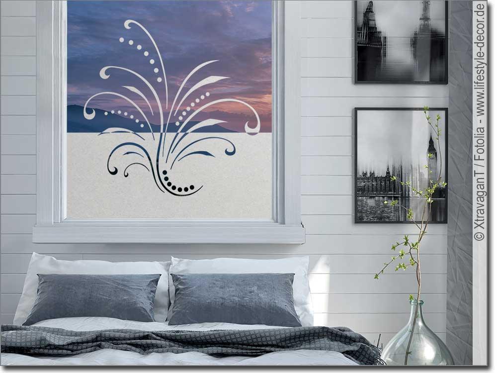 Sichtschutz Ornament Lebensfreude Glasaufkleber