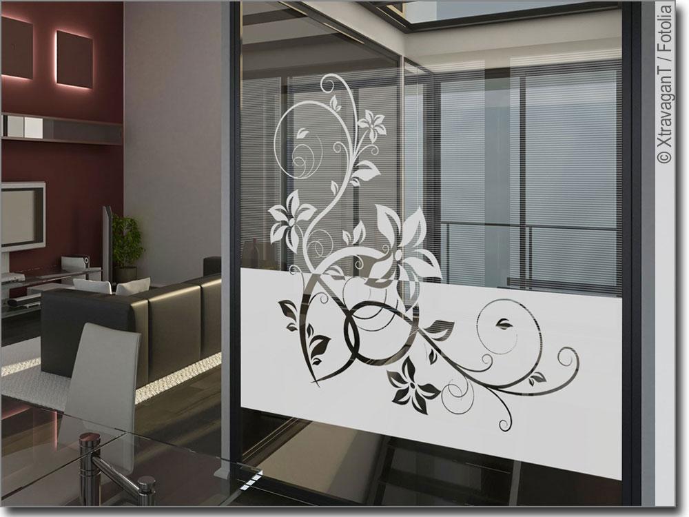 Sichtschutz Stilvolles Ornament Zur Glasdekoration