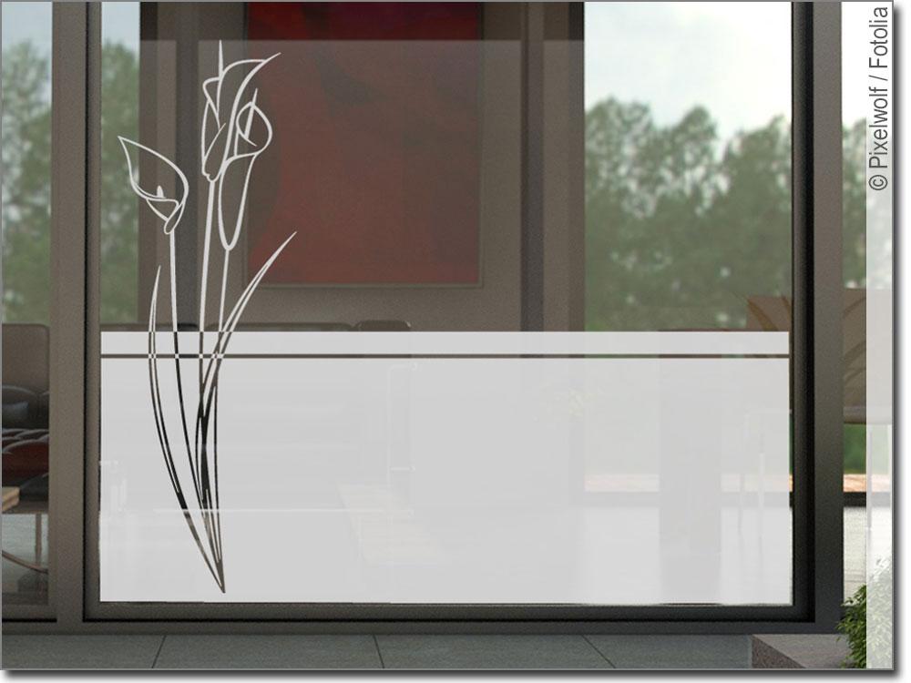 sichtschutzfolie blume callas glasfolie f r fenster. Black Bedroom Furniture Sets. Home Design Ideas