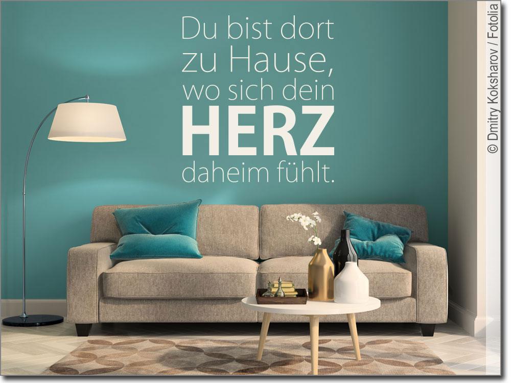 wandtattoo du bist dort zuhause sch nes wanddesign. Black Bedroom Furniture Sets. Home Design Ideas