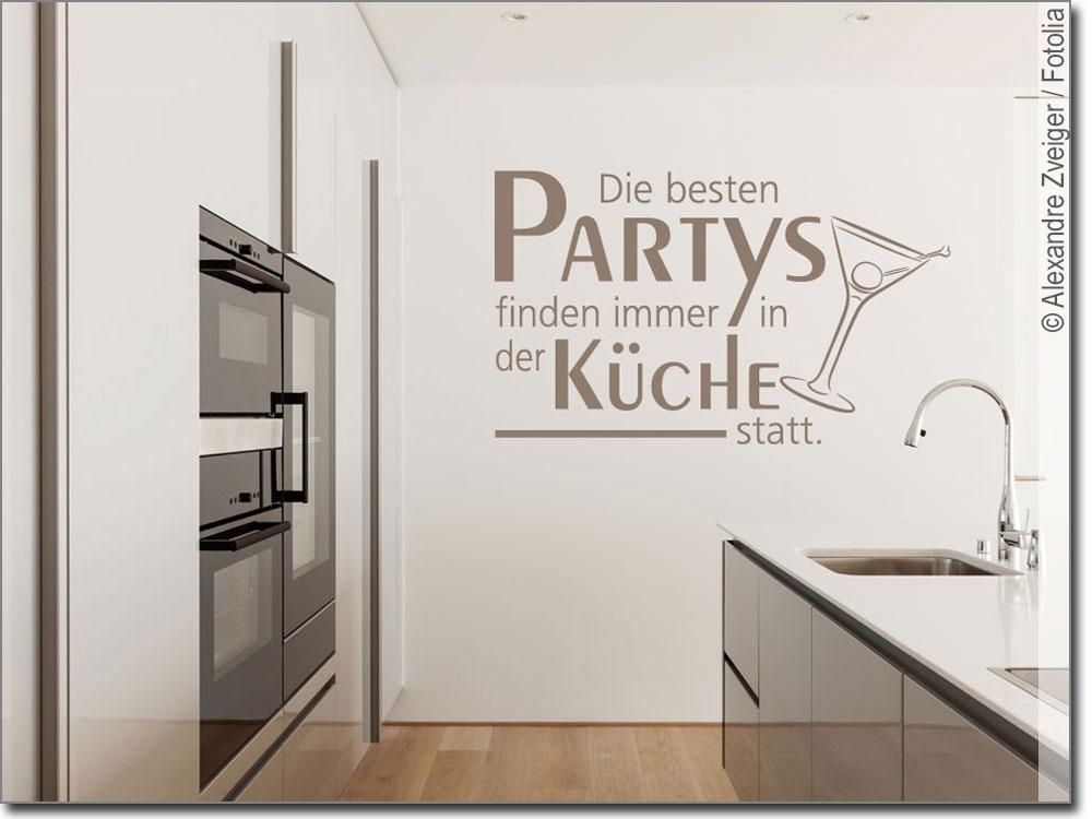 Die Besten Partys Finden In Der Küche Statt | Wandtattoo Die Besten Partys Toller Kuchenspruch
