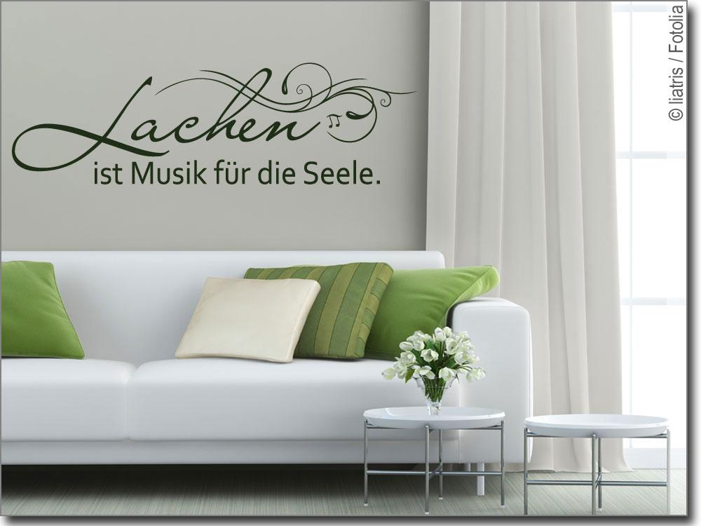 Wandspruch Lachen Ist Musik Fur Die Seele Wandtattoo