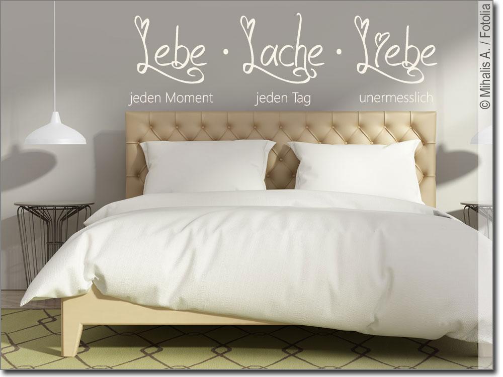 wandspruch lebe jeden moment dekoratives wandtattoo. Black Bedroom Furniture Sets. Home Design Ideas