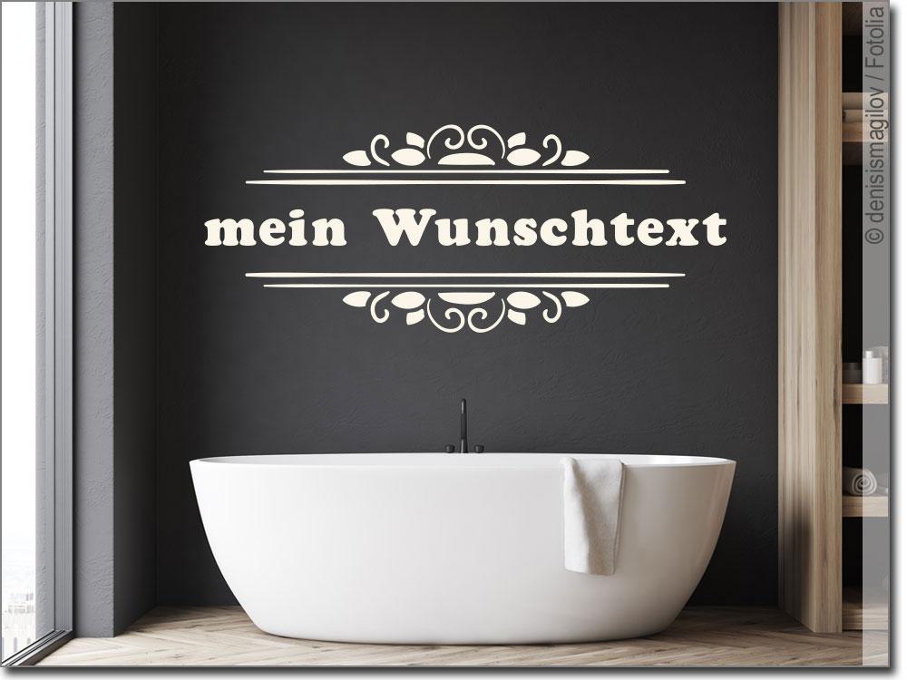 Wandtattoo Wunschtext in Rahmen