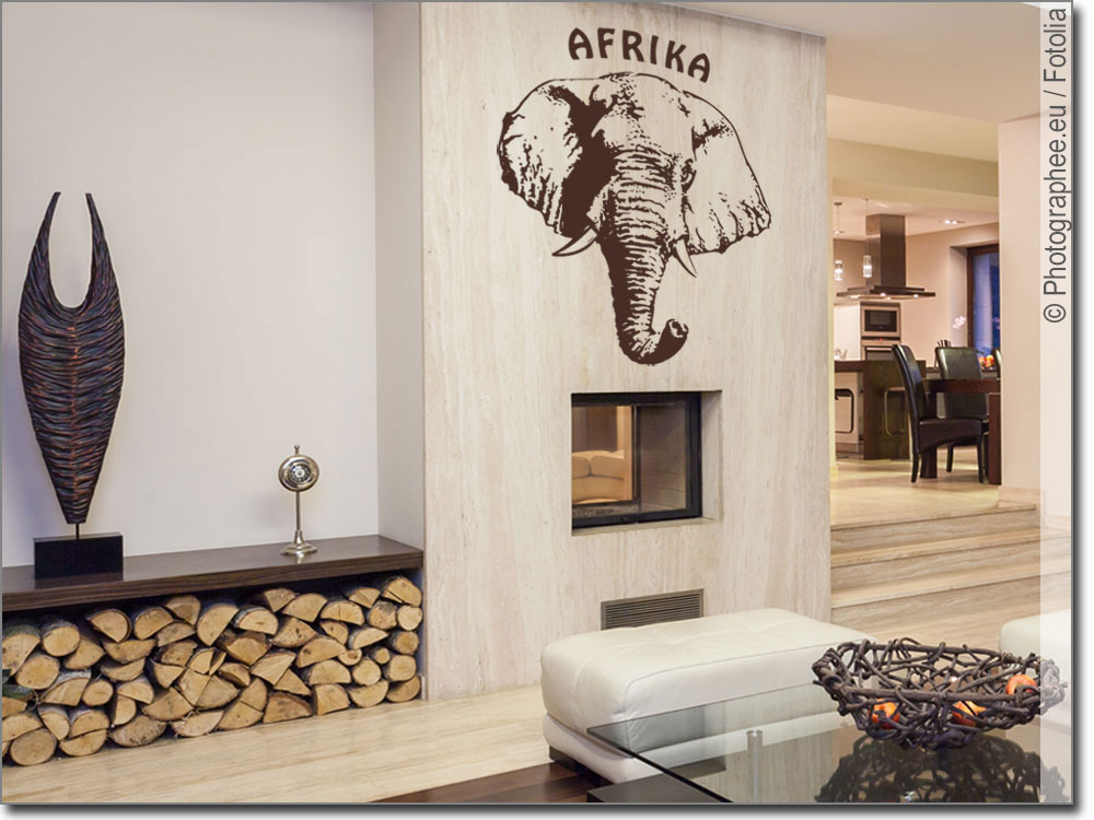 wandtattoo afrika elefant elefant als wandaufkleber. Black Bedroom Furniture Sets. Home Design Ideas