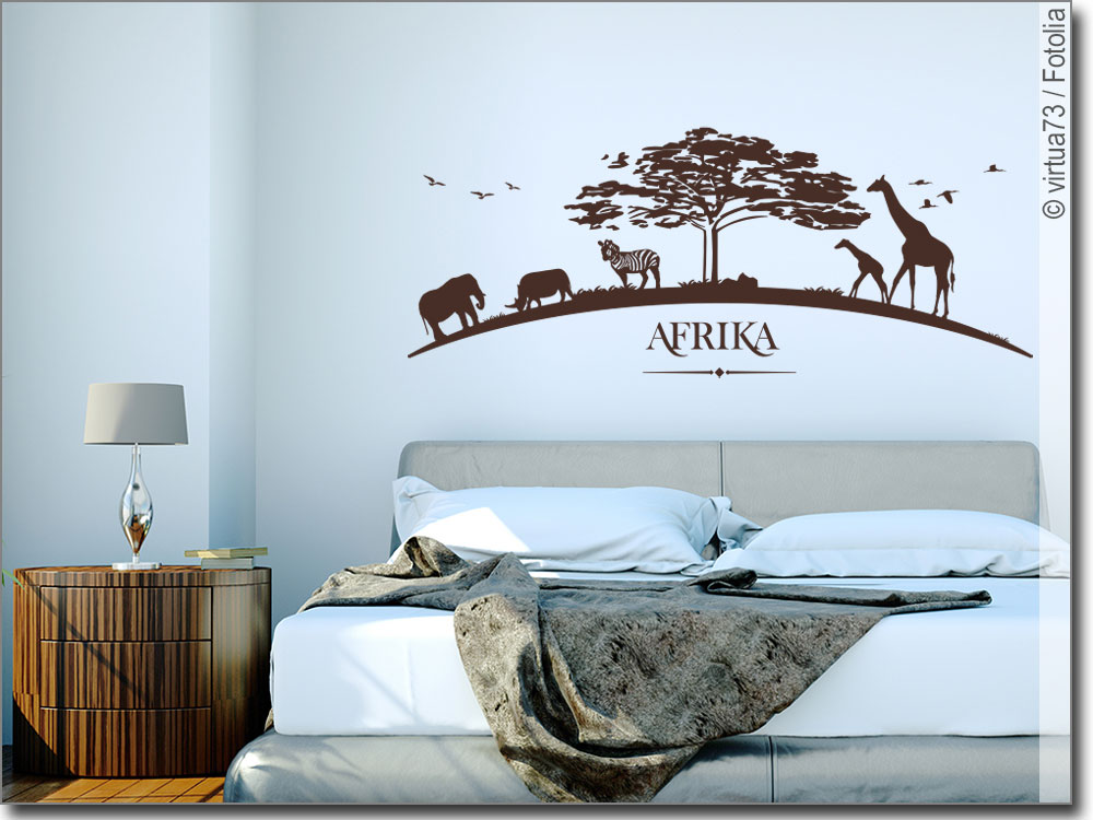 wandtattoo afrika savanne wandaufkleber afrika. Black Bedroom Furniture Sets. Home Design Ideas