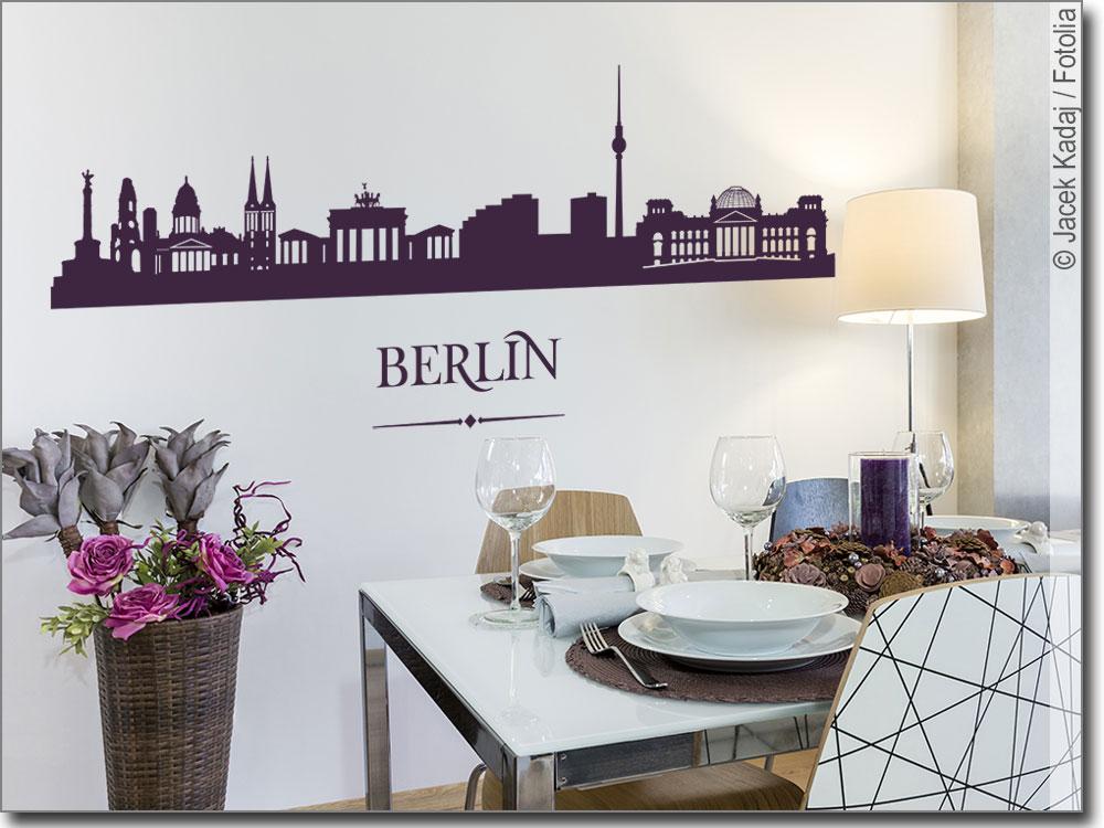 Berlin Wandtattoo wandtattoo berlin | die skyline berlins als aufkleber