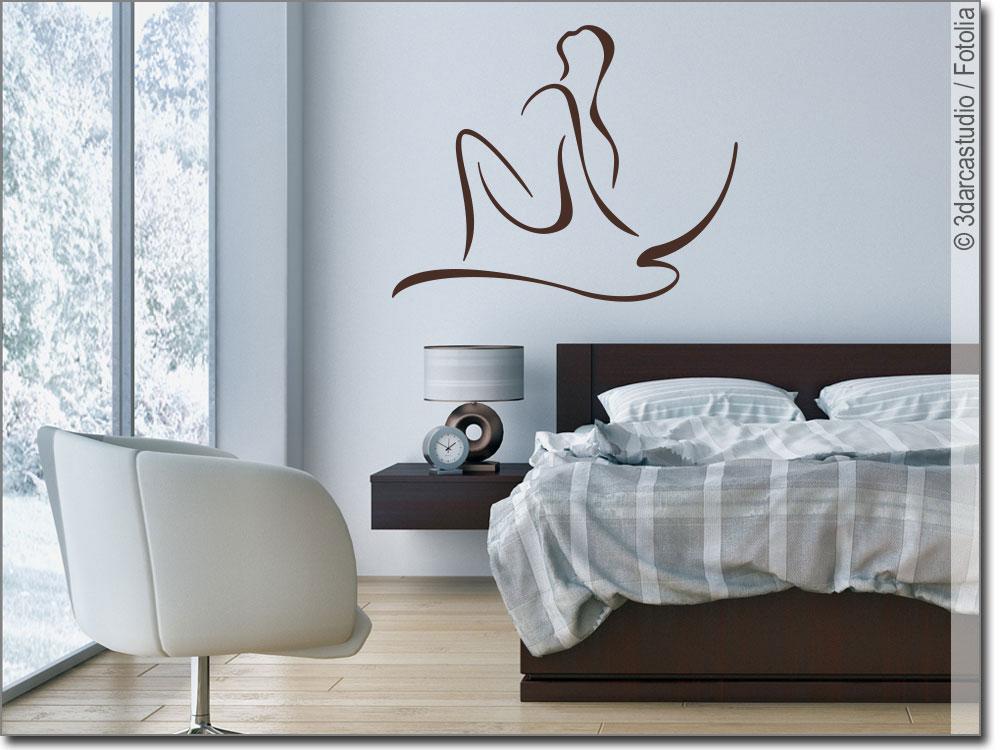 wandaufkleber erotische frau wandsticker erotik. Black Bedroom Furniture Sets. Home Design Ideas