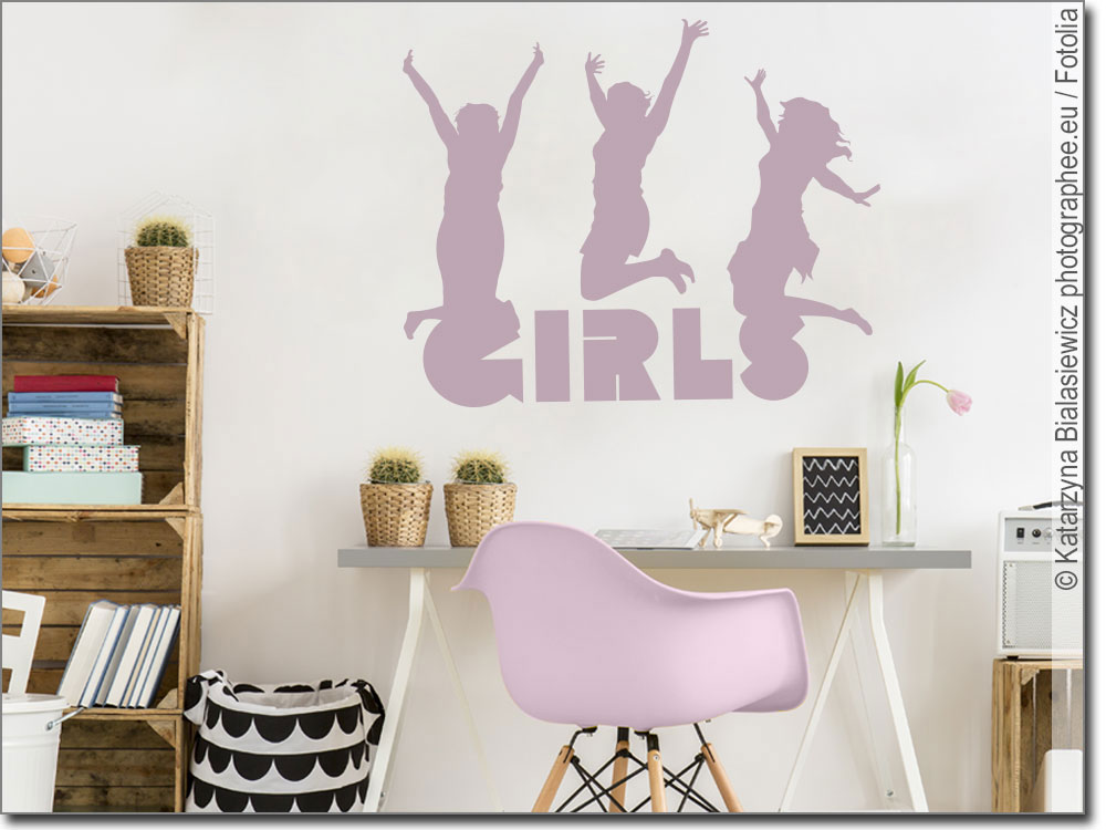 wandtattoo fun girls wandsticker f r m dchen. Black Bedroom Furniture Sets. Home Design Ideas