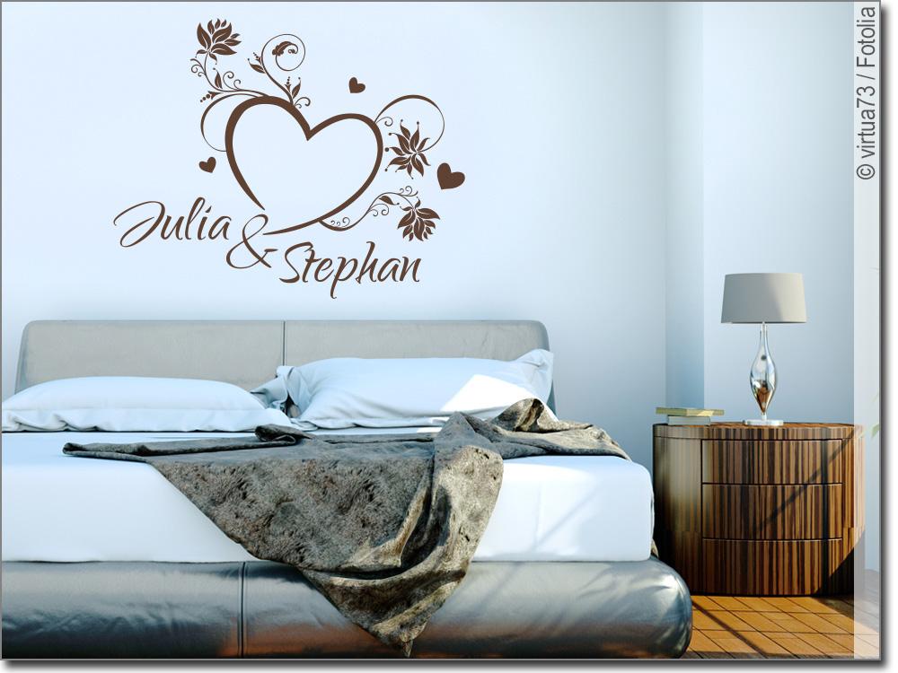 wandtattoo herzen herz aufkleber mit namen. Black Bedroom Furniture Sets. Home Design Ideas