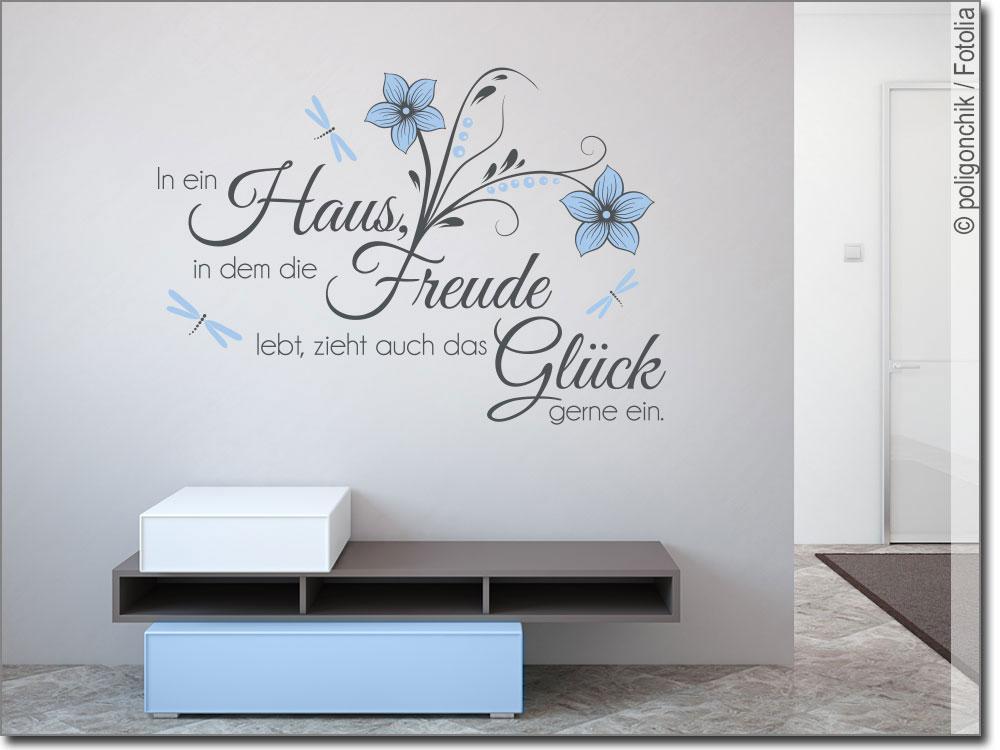 Wandspruch In ein Haus | Schönes Wandtattoo für Flur