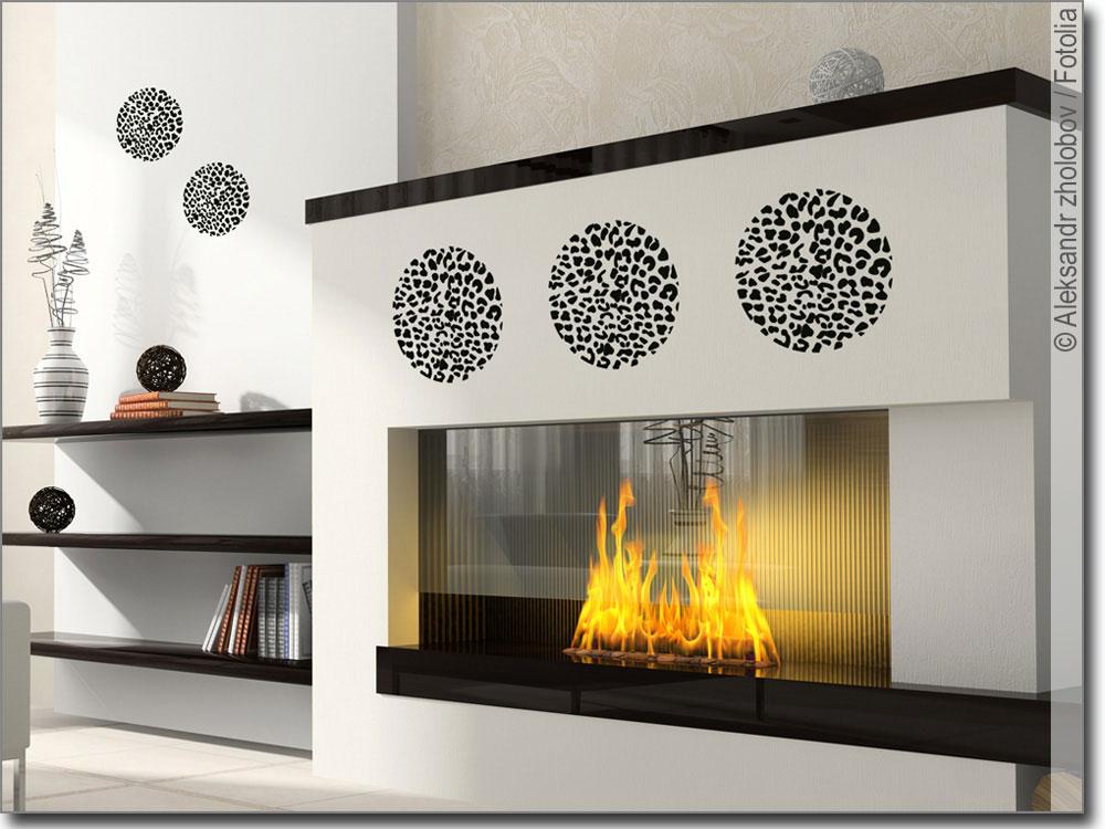 wandtattoo leopardenmuster kreise wilder aufkleber. Black Bedroom Furniture Sets. Home Design Ideas