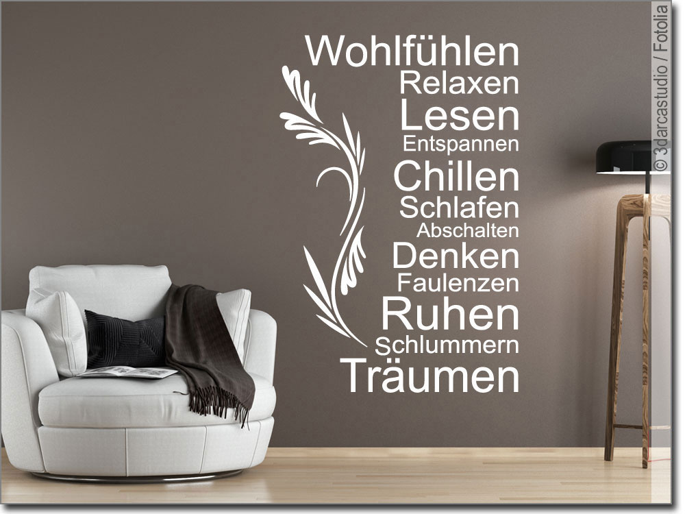 wandtattoo lieblingsplatz wandaufkleber zum wohlf hlen. Black Bedroom Furniture Sets. Home Design Ideas