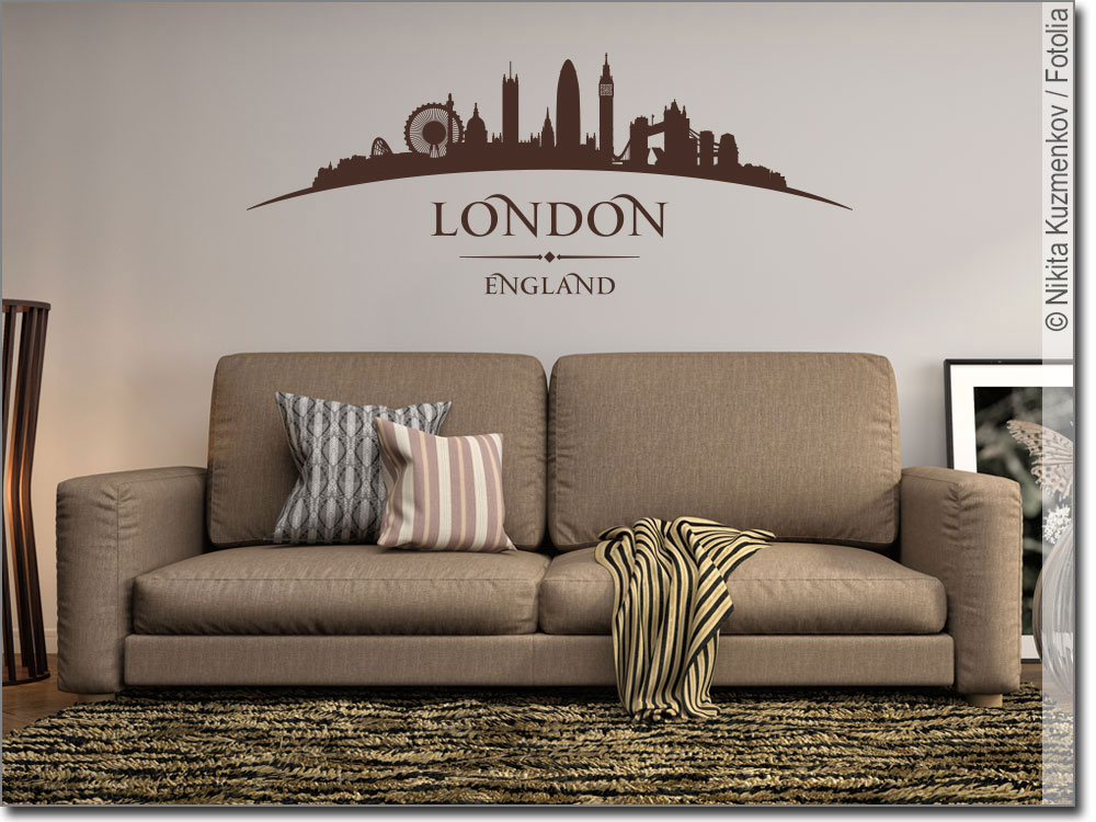 wandtattoo london wandaufkleber skyline von london. Black Bedroom Furniture Sets. Home Design Ideas
