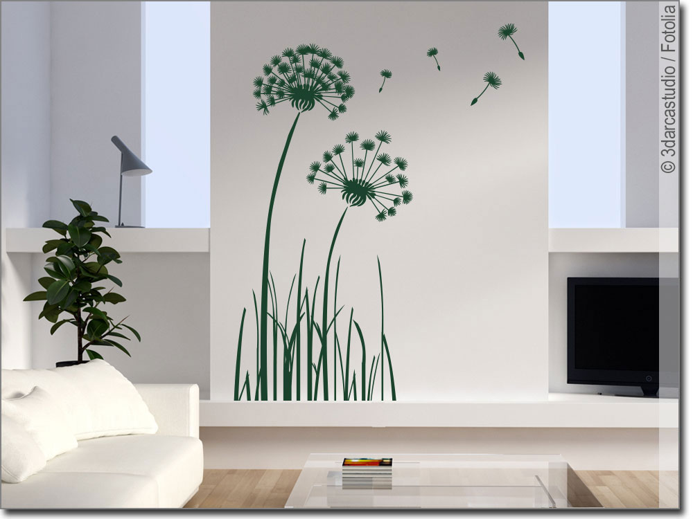 wandtattoo pusteblume selbstklebende wandfolie. Black Bedroom Furniture Sets. Home Design Ideas