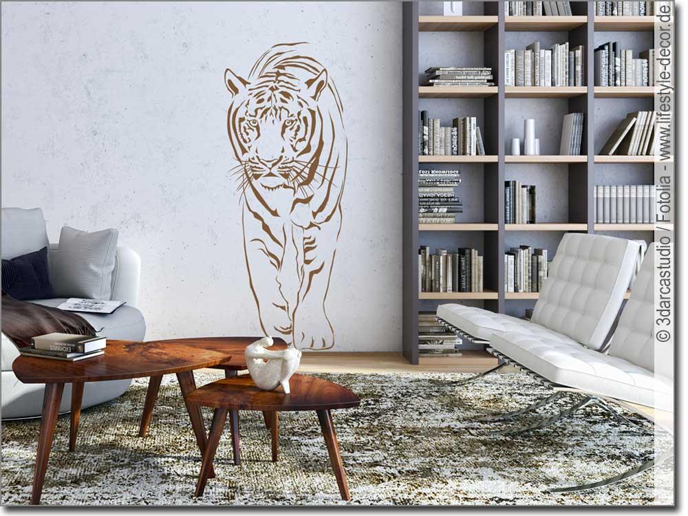 wandtattoo raubkatze wandsticker f r zuhause. Black Bedroom Furniture Sets. Home Design Ideas