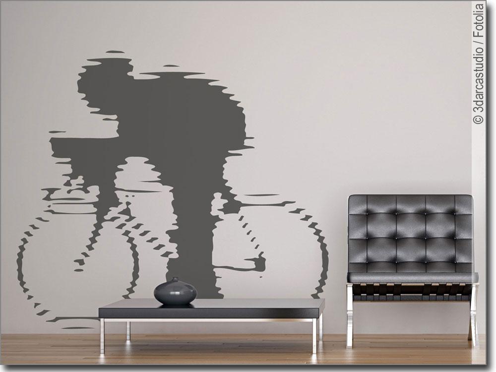 wandtattoo rennrad radfahrer als wandaufkleber. Black Bedroom Furniture Sets. Home Design Ideas