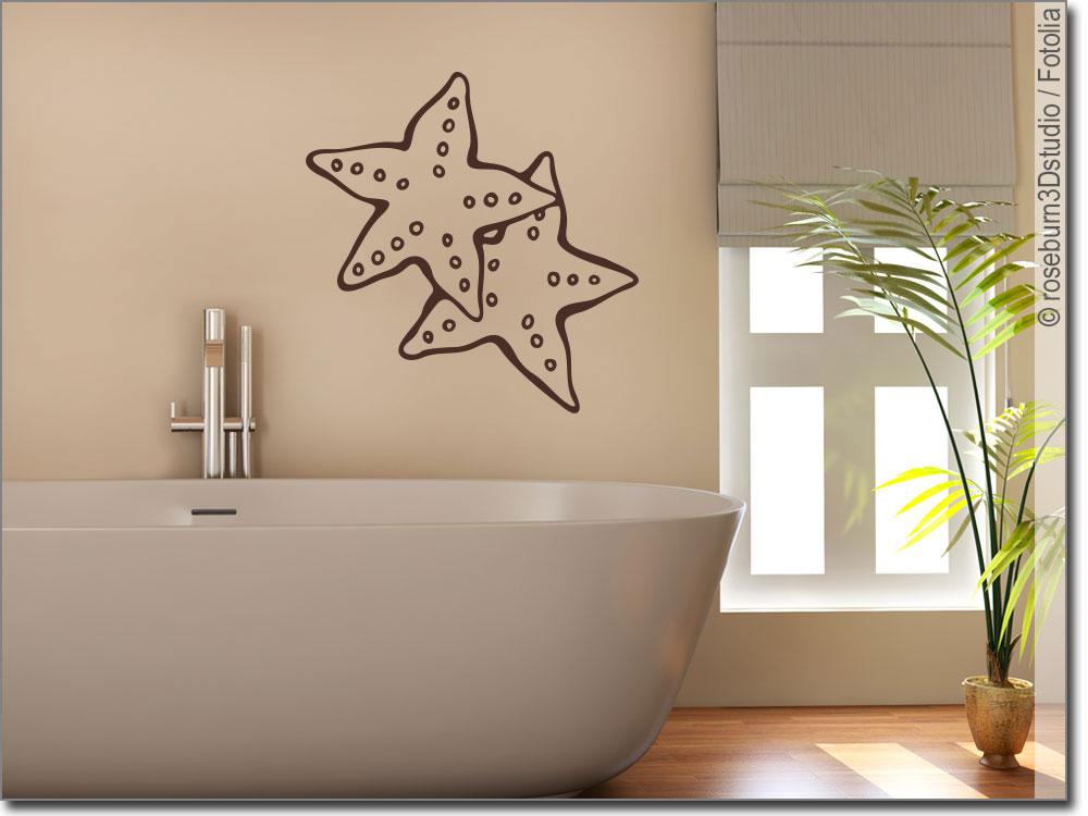 wandtattoo seesterne seestern sticker f r die wand. Black Bedroom Furniture Sets. Home Design Ideas